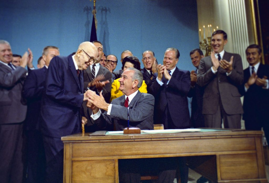 President Johnson Signing Colorado River Basin Project Act