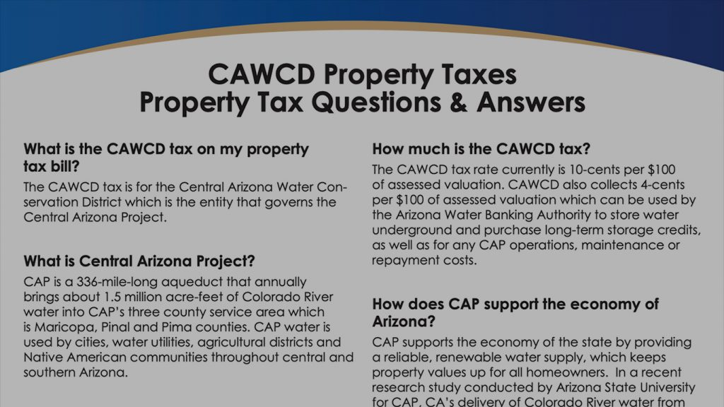 CAP Property Tax Document