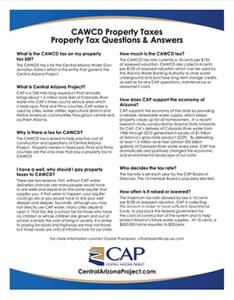 CAWCD Property Taxes Document Thumbnail