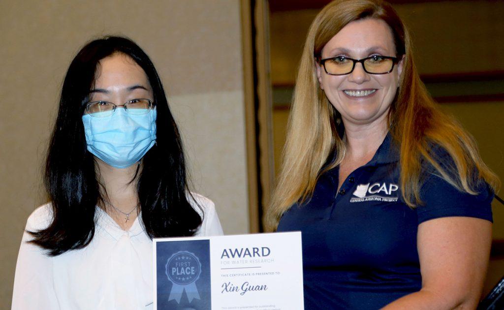 Xin Guan Getting Award for Water Research